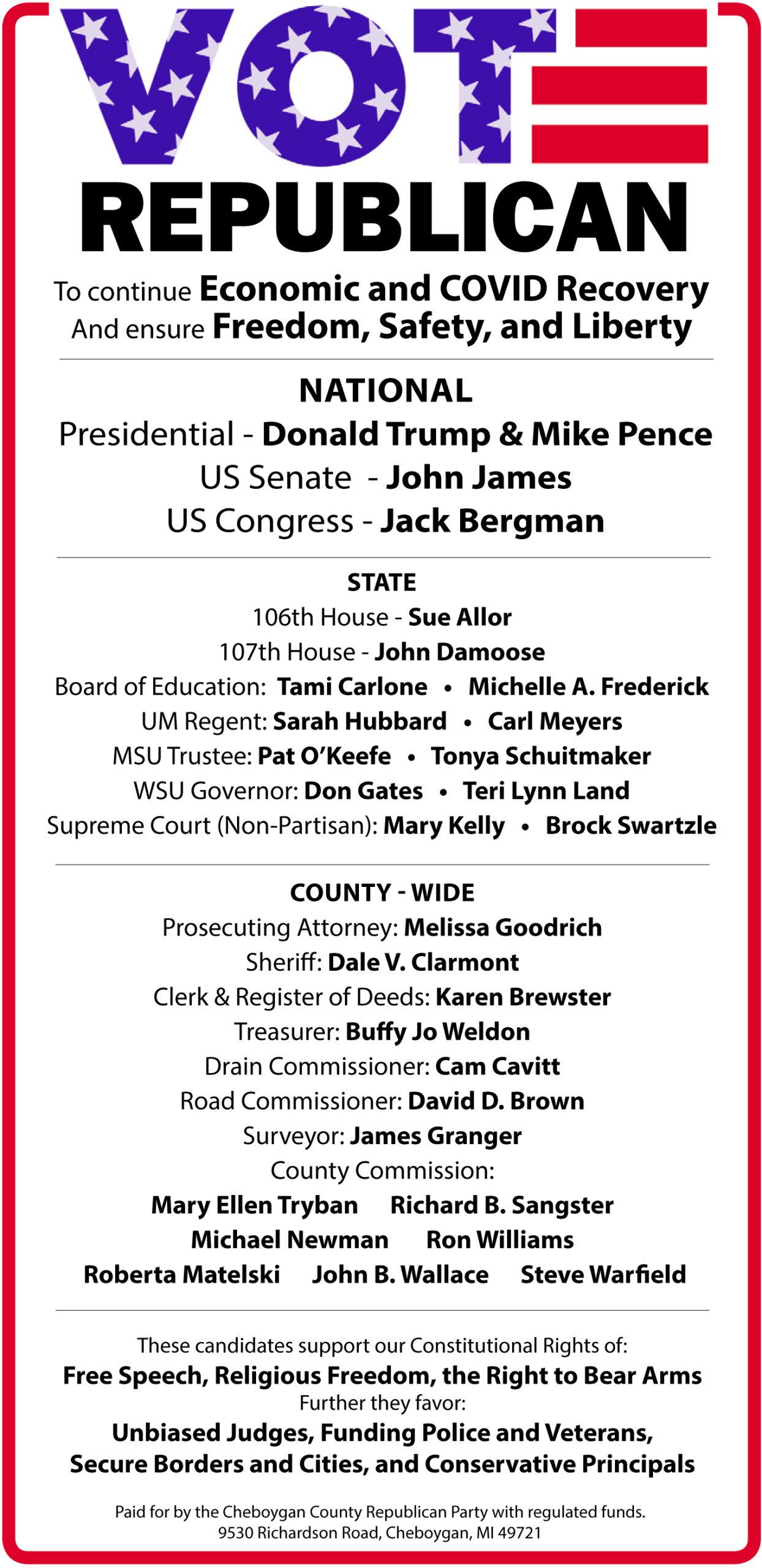 Vote Republican Nov. 3rd